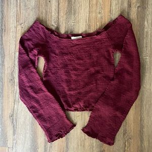 Merlot Urban Outfitters Cropped Top